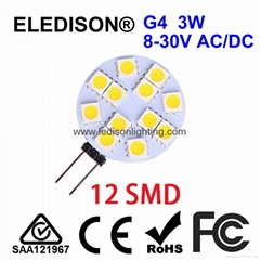 12V AC 24V DC G4 LED Light Bulb 2W Diameter 30mm
