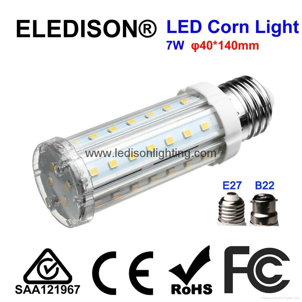 7W LED Corn Light Bulb 700LM E27 Screw Base B22 Bayonet Base PL Down Light Bulb  1