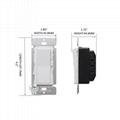 UL認証美標雙控LED燈調光器 開關 5