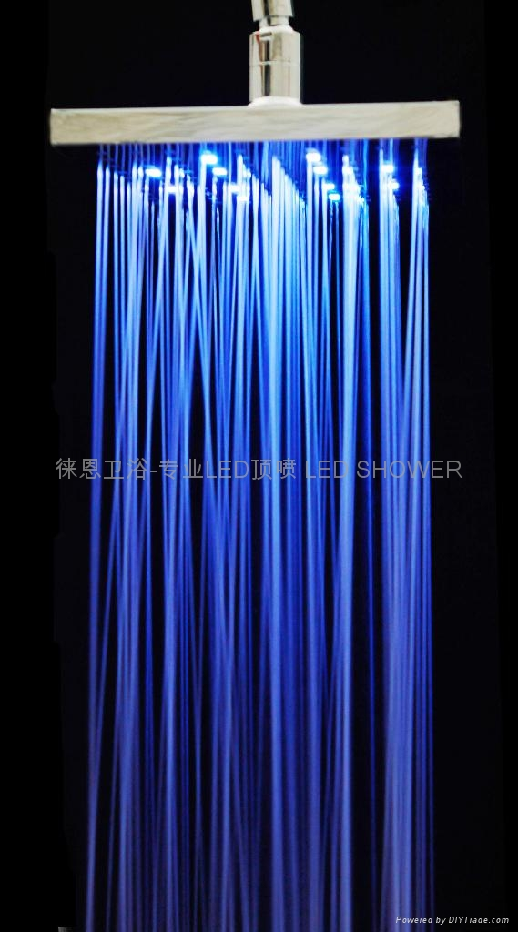 LED Rainfall shower LED shower head LED Overhead shower 1