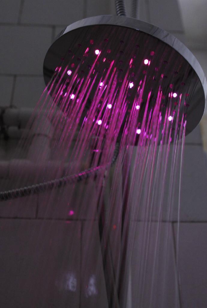 No Battery LED Rainfall shower LED shower head Light Shower LED 2