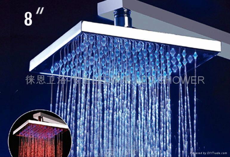 No battery Shower Heads Shower Led Led Shower head light Led Rainfall Shower 1