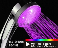No battery Led Shower Led Shower handle