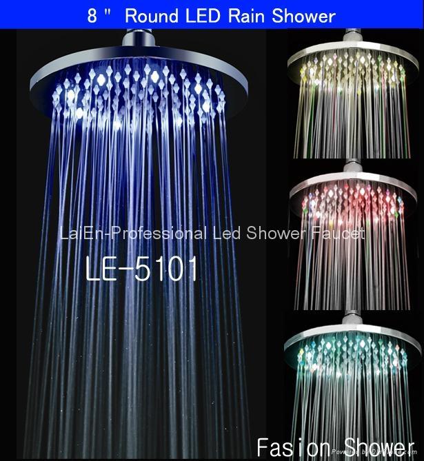 No battery Shower Heads Shower Led Led Rain Shower Led Rainfall Shower 1