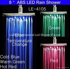 LED塑料頂噴 七彩噴頭 七彩頂噴 淋浴頂噴
