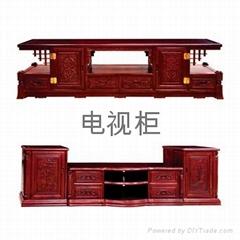 红檀家具电视柜