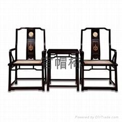 明清紅檀傢具椅子組合