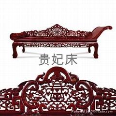 仿古红木家具大床