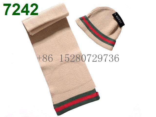 Gucci Sscarf &caps suit Knitted caps Louis Vuitton Cobulte Beanie scarf caps  4
