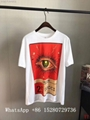 Wholesale Men Gucci Head Logo T-shirt Gucci Cotton Wolf snake Washed T-shirts  18