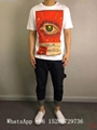 Wholesale Men Gucci Head Logo T-shirt Gucci Cotton Wolf snake Washed T-shirts  19