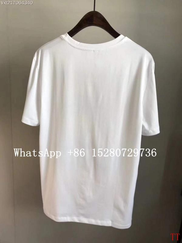 Wholesale Men Gucci Head Logo T-shirt Gucci Cotton Wolf snake Washed T-shirts  20