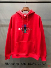 2018 New Men Supreme BOX&Champion C hoody Wool sweatshirt Supreme black cotton