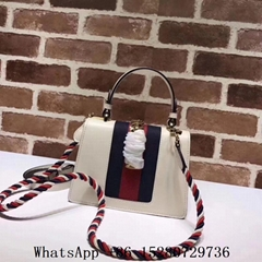 New Gucci handbag Gucci Flap leather handbag Gucci Clutch Bag Tote Bag White