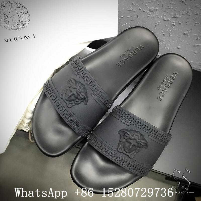 Men's Versace Medesa-Head Slide Sandal Versace Slipper Red,Grey,white color  15
