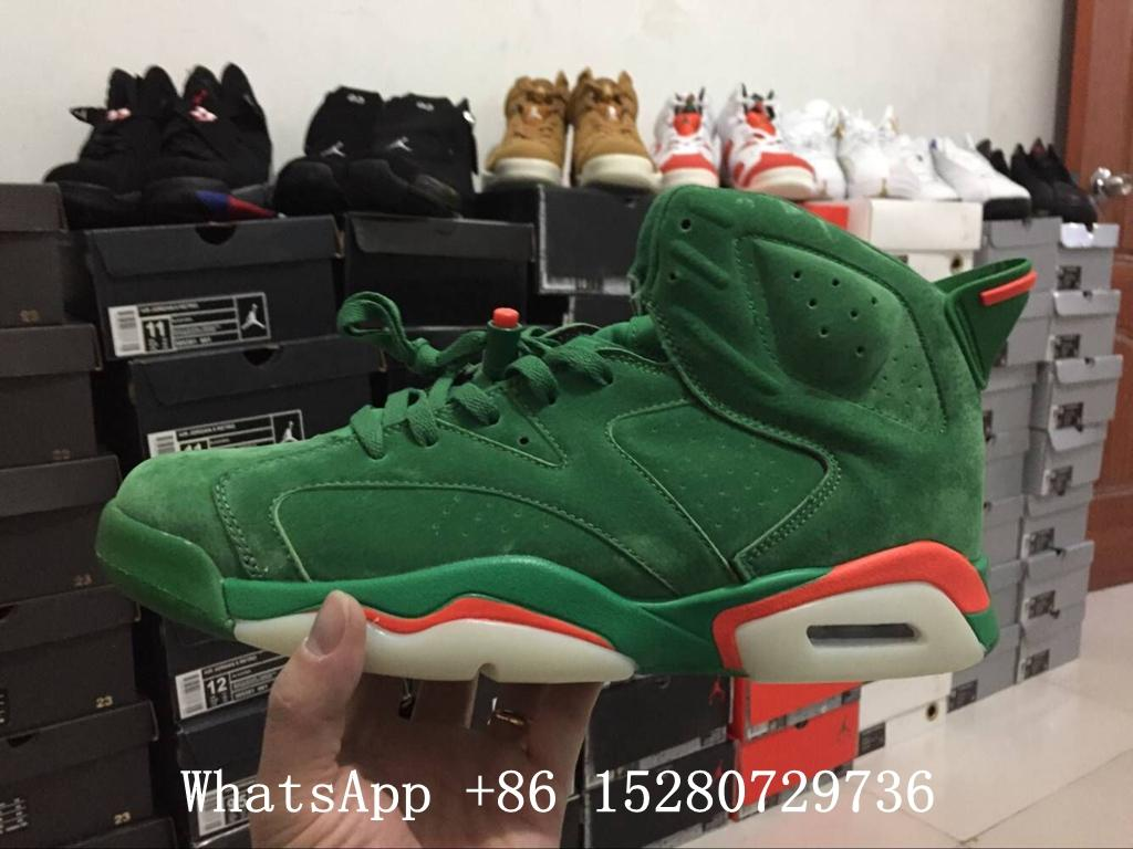 Wholesale Authentic Air Jordan 6 Gatorade Green Suede shoe Air Jordan 6 Retro 2