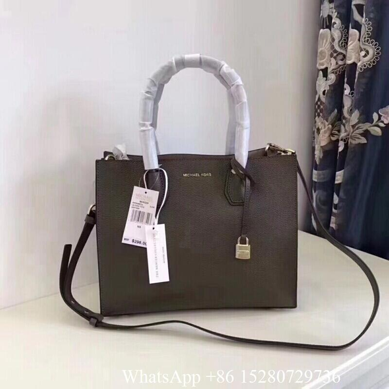 d228bf2e96e9 ... 2018 Michael Kors Mercer leather handbags Women MK Mercer New Lock Head  handbag 15 ...
