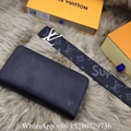 Louis Vuitton Black Damier Graphite Initiales Belts LV Monogram Gold Buckle belt