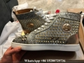 Christian Louboutin Lou Spikes Men's Flat shoes CL Rythinestone High Top shoes