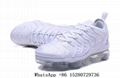 2018 Newest Nike Air Vapormax PlusTriple White Grey shoes Air Max TN shoes