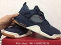 Nike Air Jordan 4 Levi's Navy shoes Air Jordan 4 Retro shoes Black sneaker shoe