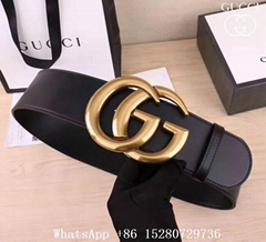 Women Gucci Wide leather belt with Double G Women Waist Belt 7cm 4cm