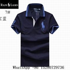 Wholeale Men's Polo Ralph Lauren Big Pony Polo Shirts Men's Polo tee shirt navy