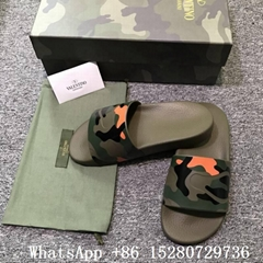 Men's Valentino Slides Valentino Camo sandals mules sandals for men rubber green (Hot Product - 4*)