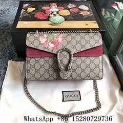 Gucci Dionysus Gg Supreme Canvas Shoulder Bag for women Chain handbag