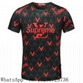 Louis Vuitton Short Sleeve T-shirts LV Mens Check T-shirts Supreme LV T-shirts