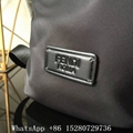 New Men's Fendi Backpack bag Monster black Roman leather with inlay backpack