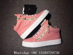 Wholesale women Giuseppe Zanotti High-Top Sneakers Double Zipper leather shoes