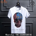 Wholesale New Men Philipp Plein Skeleton Print fashion cotton T-shirts White