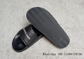 Hot Sale New Balenciaga Piscine Sandal black leather LOGO slides wholesale price