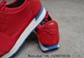 New Arrival Balenciaga Women's Race Runners leather Sneaker RED Spring/summer