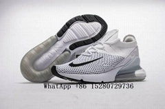 Nike Air Max 270 Flyknit sneaker men's shoe wholesale white black running cheap