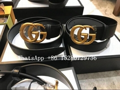 Wholesale Women Gucci Wide leather belt with Double G Women Waist Belt 7cm 4cm