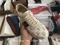 Gucci  Men Low-Top Sneaker Gucci leather Trainer shoes  hot sale 36-46