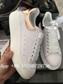 Hot Sale Alexander Mcqueen leather sneaker women shoes white and pink wholesale