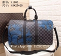 Louis Vuitton Keepall Monogram Canvas Strap Travel bag LV Luggage leather 45cm