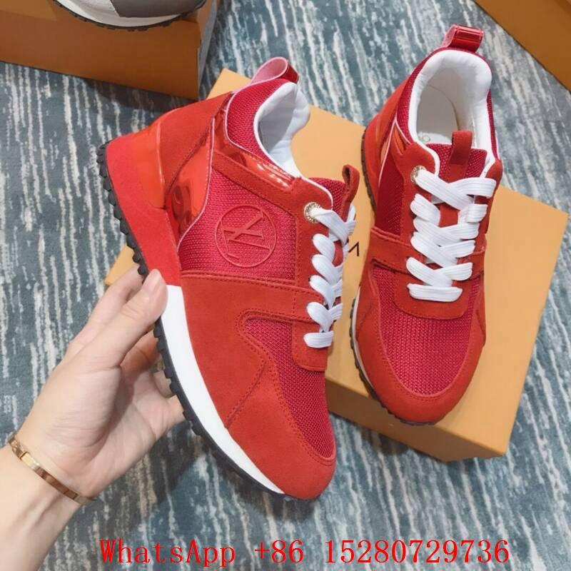 131850c2ba9 Louis Vuitton Run away sneaker women shoes LV Trainer 1 1 authentic quality  RED 1 ...