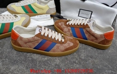 Gucci Beige GG Canvas Suede Web Stripe Sneaker brown Men sz 38-45 (Hot Product - 4*)