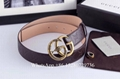 Wholesale High quality Gucci belts Women Gucci Crystal GG Buckle leather belt