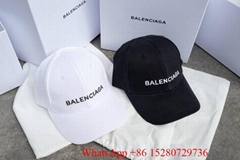 Balenciaga caps Balenciaga Logo Embroidered Cotton-Twill Baseball cap on sale
