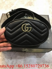 Women Gucci GG Marmont Matelasse Belt bag black ,Gucci Cross body bag  Hot sale