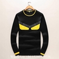 Mens Fendi  FF Logo Diagonal-stripe sweater Fendi Knit wool sweater hot sale