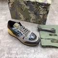 Valentino sneaker Garavani Camo Rockstud runner shoes leather Men's Rockrunner   7