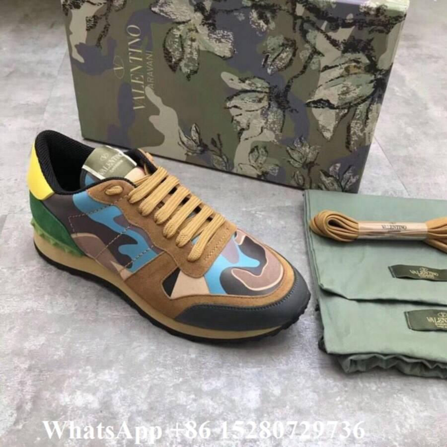 Valentino sneaker Garavani Camo Rockstud runner shoes leather Men's Rockrunner   9
