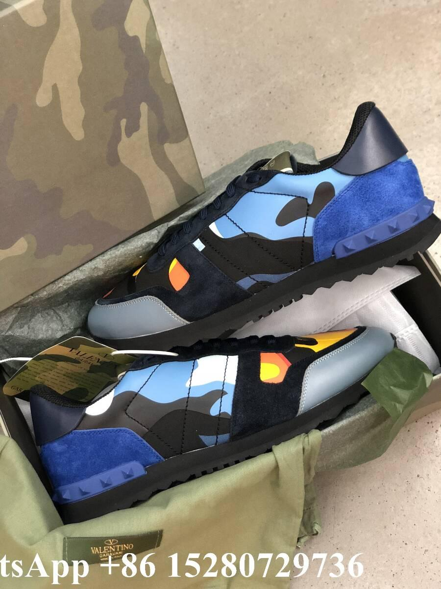 Valentino sneaker Garavani Camo Rockstud runner shoes leather Men's Rockrunner   20
