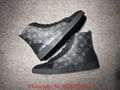 LV High top sneaker LV Monogram Eclipse Match up sheckor sneaker boots men black